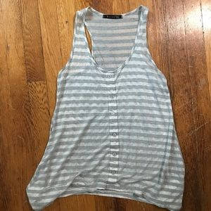 Bozzolo Striped Sheer Tank Top
